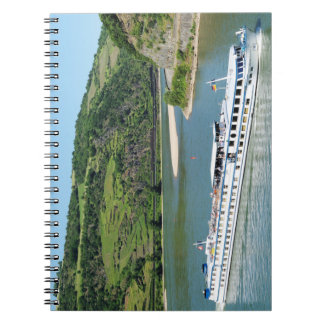 Ship on the Rhine with Oberwesel Notebook