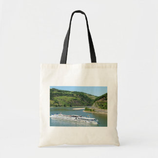 Ship on the Rhine with Oberwesel Tote Bag