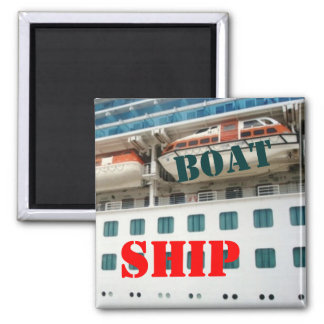 Ship or Boat 2 Inch Square Magnet