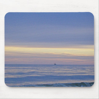 Ship Out At Sea Mouse Pad