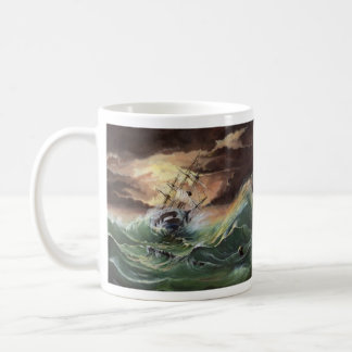 Ship Painting Basic White Mug