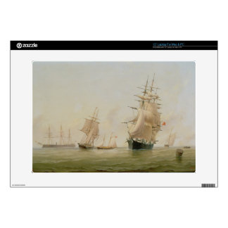 Ship Painting (oil on canvas) Decals For Laptops