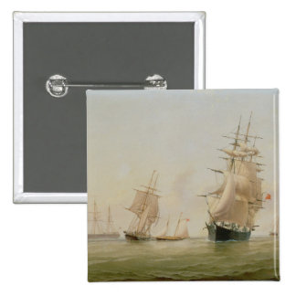 Ship Painting (oil on canvas) Pinback Button