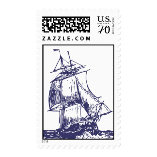 Ship Postage Stamp