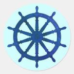 Ship's Helm Classic Round Sticker