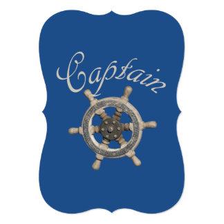 Ship's steering wheel card
