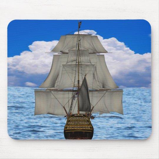 Ship sailing mouse pad