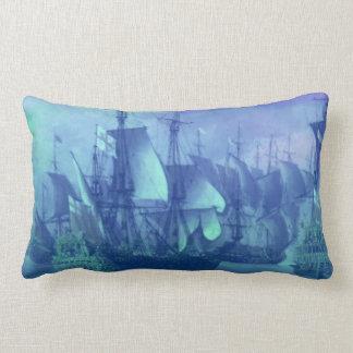 Ship Sailing on the High Seas. Lumbar Pillow