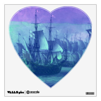 Ship Sailing on the High Seas. Wall Sticker