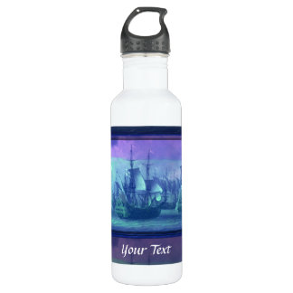 Ship Sailing on the High Seas. Water Bottle