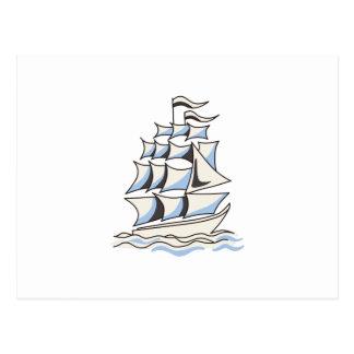 Ship Sailing Postcard