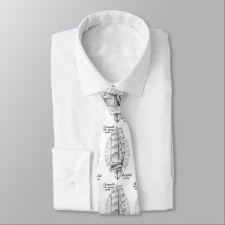 Ship Sailors Tattoo Neck Tie