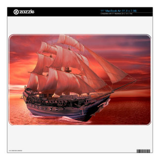 "SHIP SAILS AT SUNSET DECAL FOR 11"" MacBook AIR"