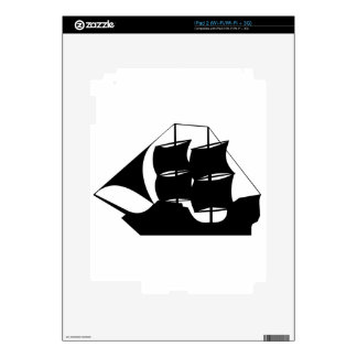 Ship Silhouette Decal For iPad 2