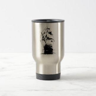 Ship Silhouette Travel Mug