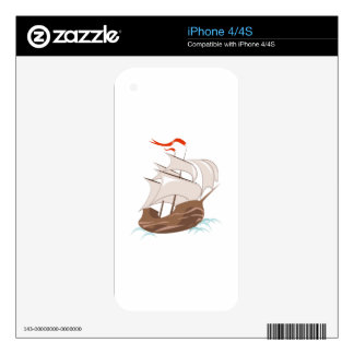 Ship iPhone 4S Decal