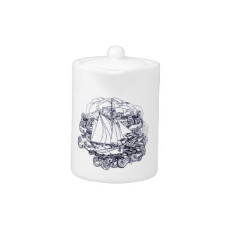 Ship Stuck in the Storm Teapot