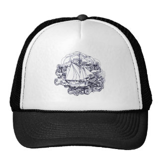 Ship Stuck in the Storm Trucker Hat