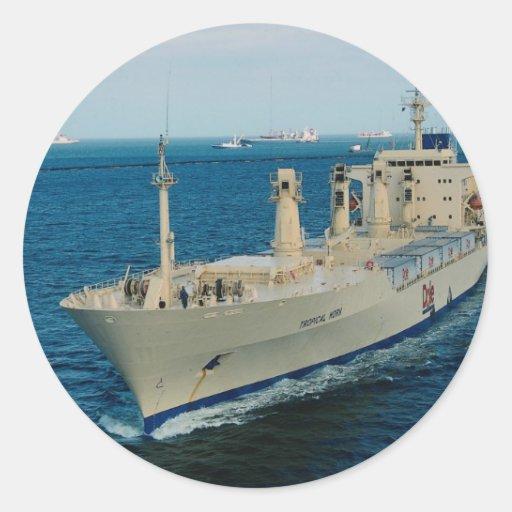 Ship transit Panama Canal Round Sticker