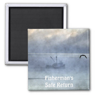 Ship, Trawlers Artwork for Boaters Refrigerator Magnet