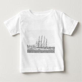 Ship under sail drawing baby T-Shirt