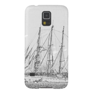 Ship under sail drawing galaxy s5 cover