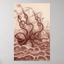 ship vs. octopus poster