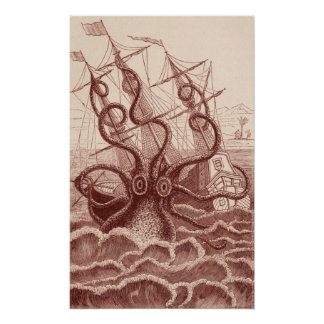 ship vs. octopus poster