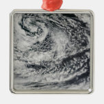 Ship-wave-shaped wave clouds 2 metal ornament