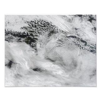 Ship-wave-shaped wave clouds 2 photo print