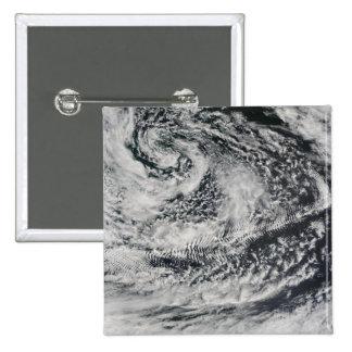 Ship-wave-shaped wave clouds 2 pinback button