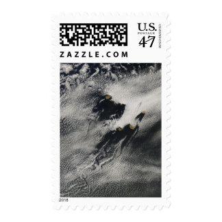 Ship-wave-shaped wave clouds and cloud vortices postage