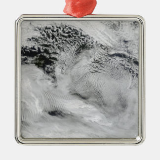 Ship-wave-shaped wave clouds christmas ornaments