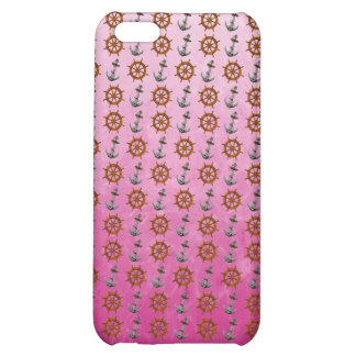 Ship Wheel And Anchor Cover For iPhone 5C
