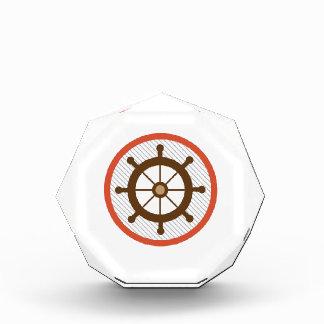 Ship Wheel Acrylic Award