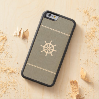 Ship Wheel Blue Carved® Maple iPhone 6 Bumper Case