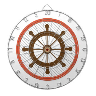 Ship Wheel Dartboard With Darts