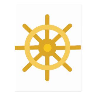 Ship Wheel Postcard