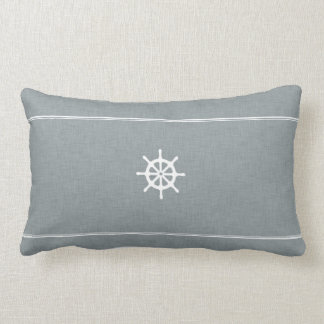 Ship Wheel Throw Pillow