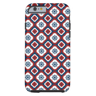 Ship Wheels and Anchors Tough iPhone 6 Case