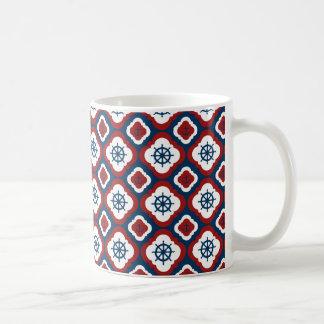 Ship Wheels and Anchors Coffee Mug
