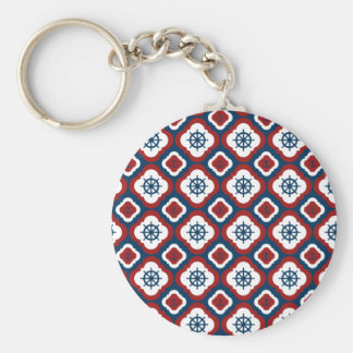 Ship Wheels and Anchors Keychain
