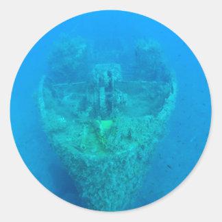 Ship Wreck Classic Round Sticker