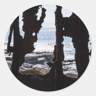 Ship Wreck Ghosts Classic Round Sticker