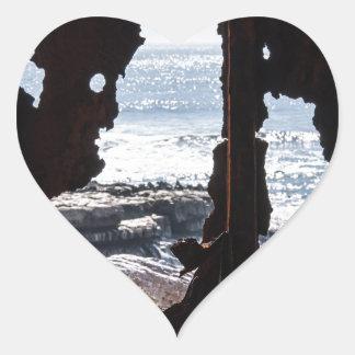 Ship Wreck Ghosts Heart Sticker