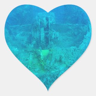 Ship Wreck Heart Sticker
