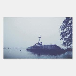 Ship Wreck Rectangular Sticker