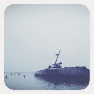 Ship Wreck Square Sticker