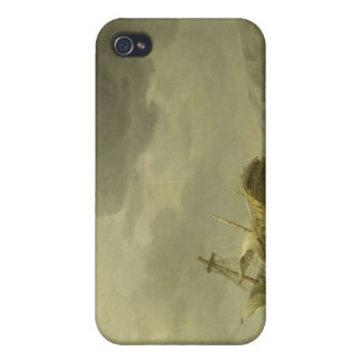 Ship Wrecked on a Rocky Coast, c.1747-50 (oil on c Case For iPhone 4