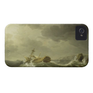 Ship Wrecked on a Rocky Coast, c.1747-50 (oil on c Case-Mate iPhone 4 Case